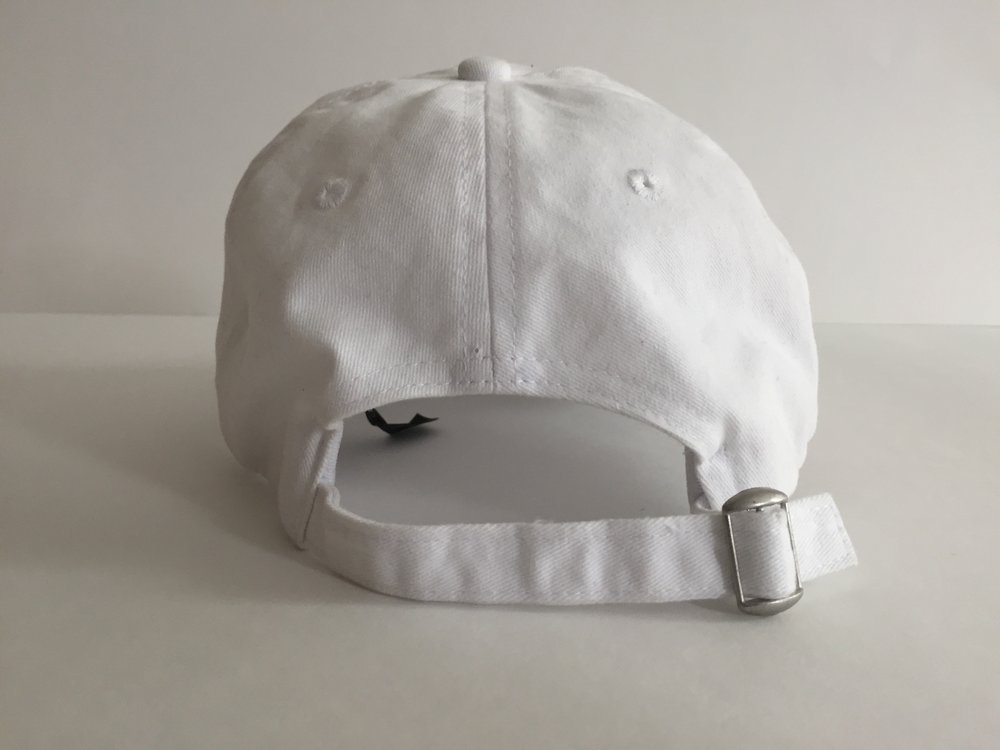 "White ""Peaceful Saigo"" dad hat (back)"