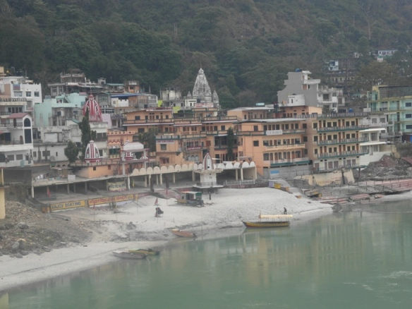 Rishikesh and the river Ganges.