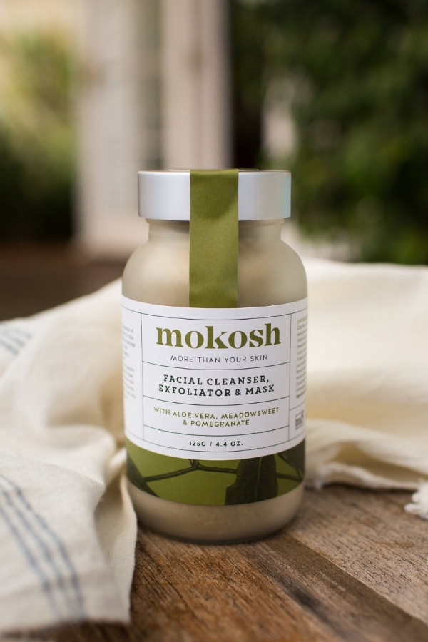 Mokosh Facial Cleanser, Exfoliator & Mask contains 100% certified organic botanical ingredients