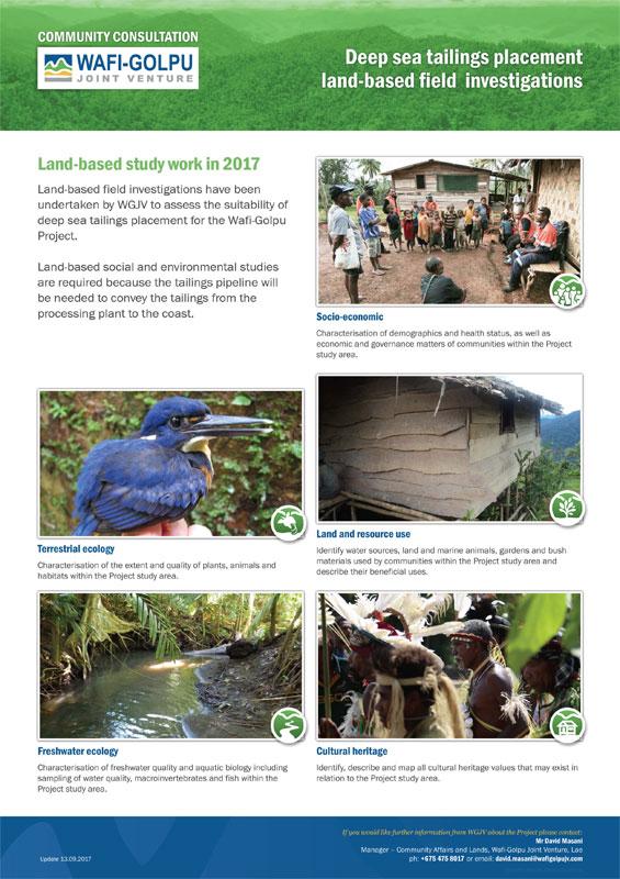 DSTP land-based investigations -