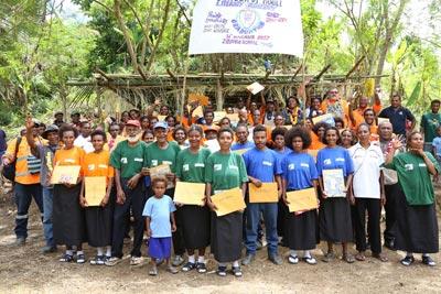 Thirty-nine graduate in adult literacy - Nov 15, 2017 - Thirty-nine adult learners in Dengea Village in Morobe Province...