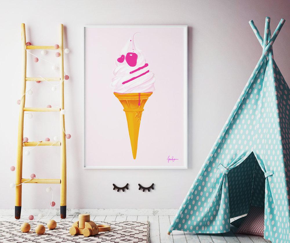 Ice Cream Print © Jessica Brennan
