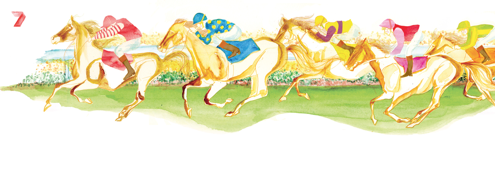 Illustration for PRIME Melbourne Cup Corporate Invitation -