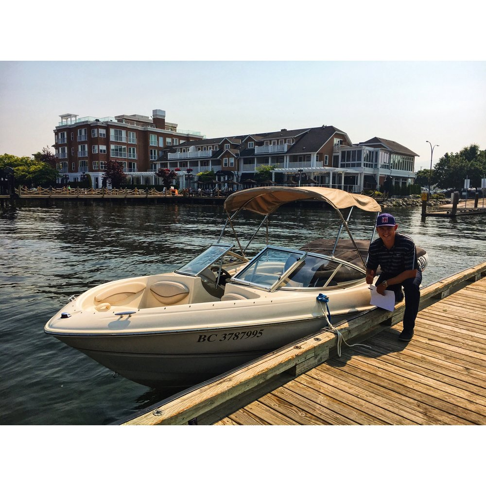 2003 Bayliner Sport 18.5 Bowrider, 4.3 litre Mercruiser, Monster tower, custom Bimini, custom swim grid with ladder, CD/radio, seats 8, looks and runs excellent, the perfect family boat rental.