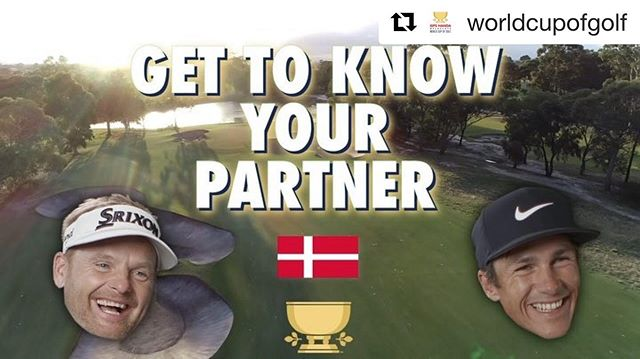 @thorbjornolesen and I did the partnership test at the @worldcupofgolf 😎🇩🇰 Go to the @worldcupofgolf to watch the full video. #golf #thorbjornolesen #ejnerhessel #srixongolf #pumagolf #alittlefun