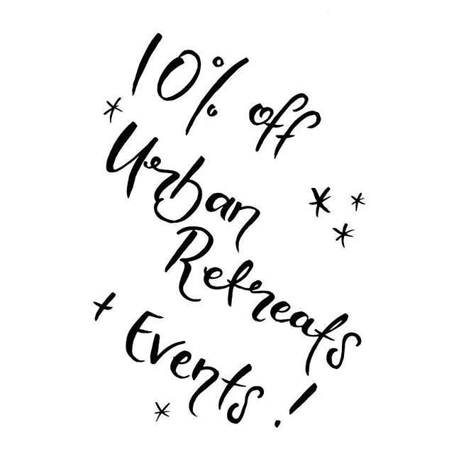The month of giving continues!! ✨🎉💫 Until MIDNIGHT TONIGHT we are offering our beautiful @wellineux community 10% OFF all #UrbanRetreats & #WellnessWorkshops sitewide!  This includes our Entrepreneurs Retreats, Corporate Retreats, Pre-Natal Retreats, Women's Wellness Workshops & Atelier - yep, all of them!! Jump onto our mobile friendly Christmas Shop today via the link in our profile☝️️ And use the special code: CHRISTMASRETREAT at the checkout. #givethegiftofwellness #investinyourself 💛