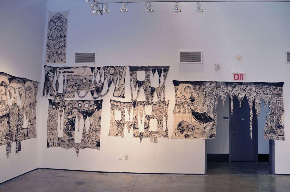 Installation view, Yale University School of Art, 2015