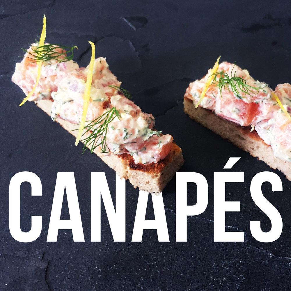 salmon tartar with dill, spring onion, crème fraiche, croute