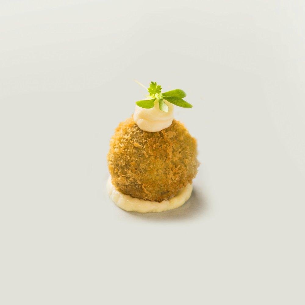 wild mushroom risotto 'bon bons' arancini
