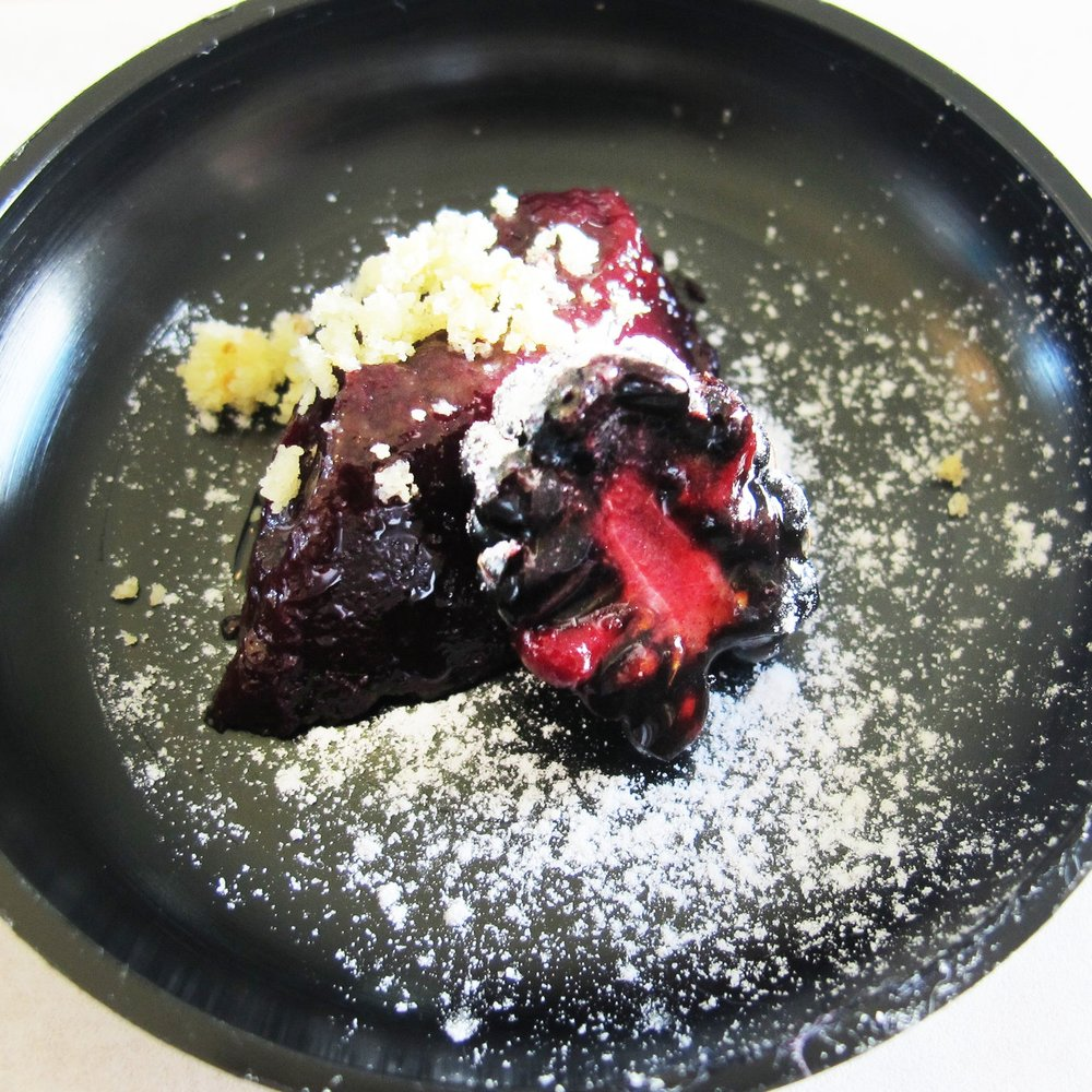 elderberry jelly with blackberry and almond crumble