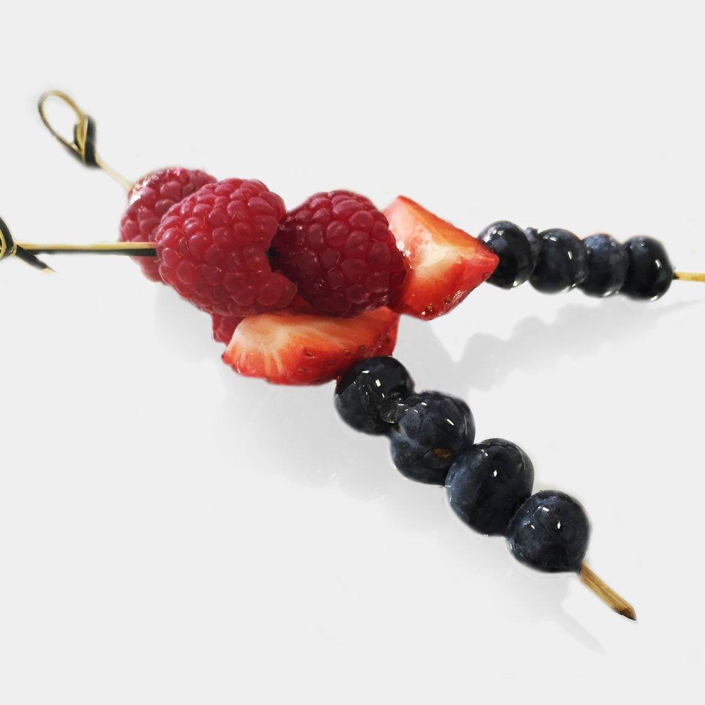 berry fruit skewers