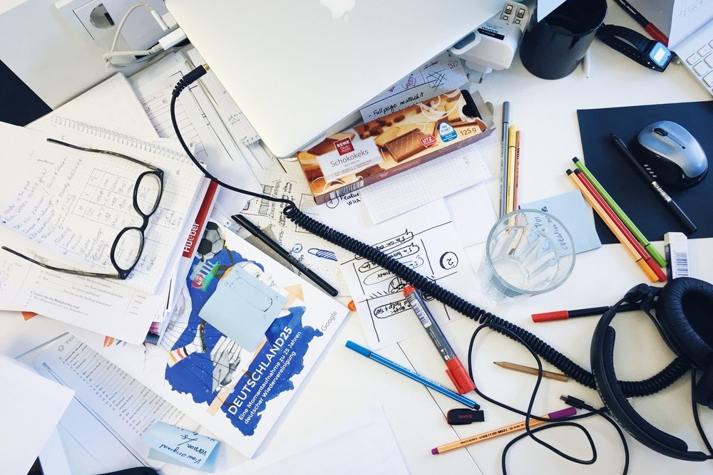 Where there is chaos, there is creativity — Riccardo's desk.