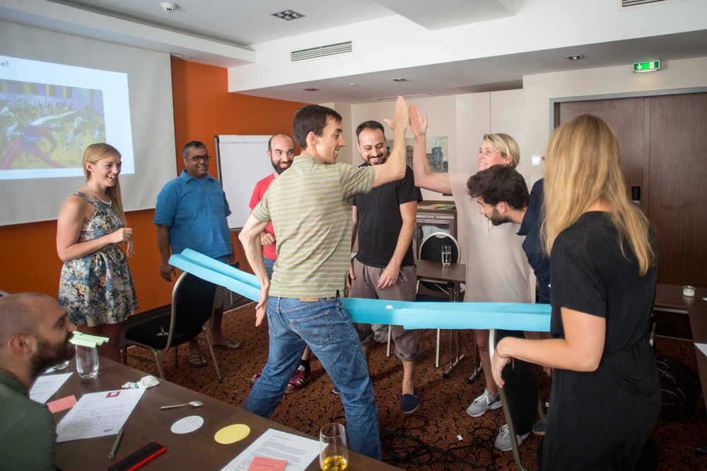 """Our Differences Makes Us Stronger: How to leverage cultural diversity"" had employees from different departments, disciplines and cultures collaborate to build a bridge."