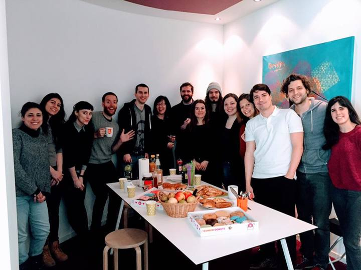 The Content Team enjoying some treats!