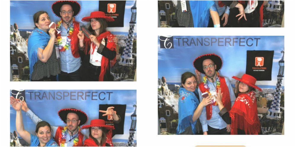 Having fun at the Translators without Borders photobooth!