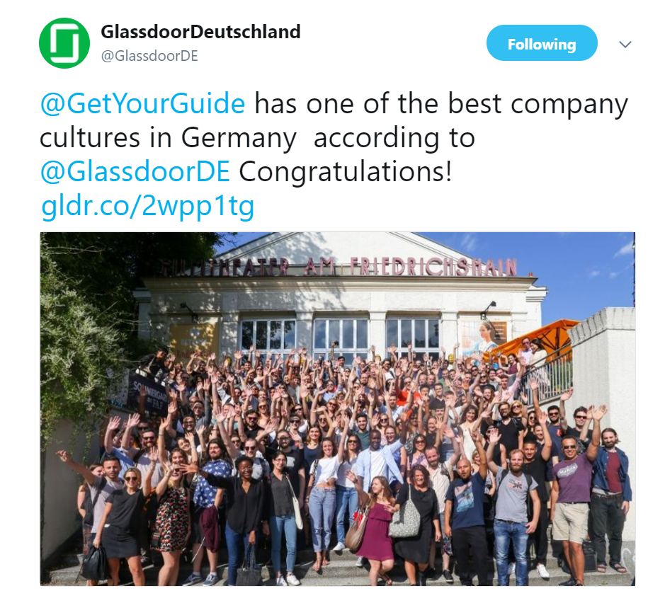 Glassdoor confirming the exciting news!