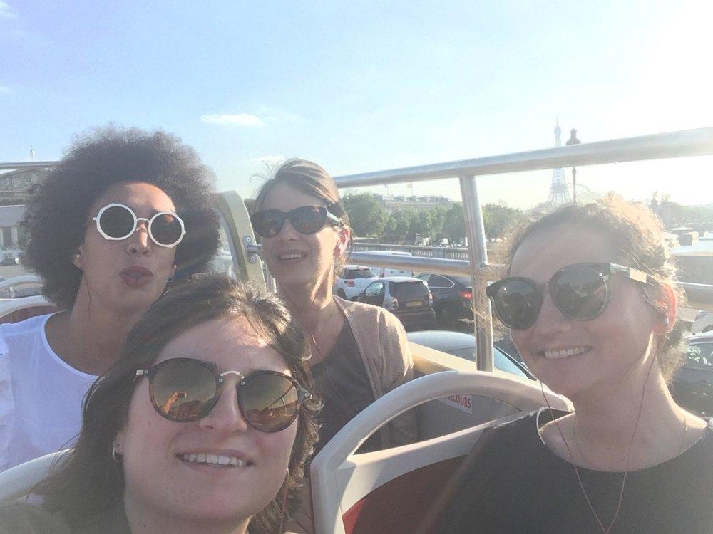The Paris Sales team on a tour of the city