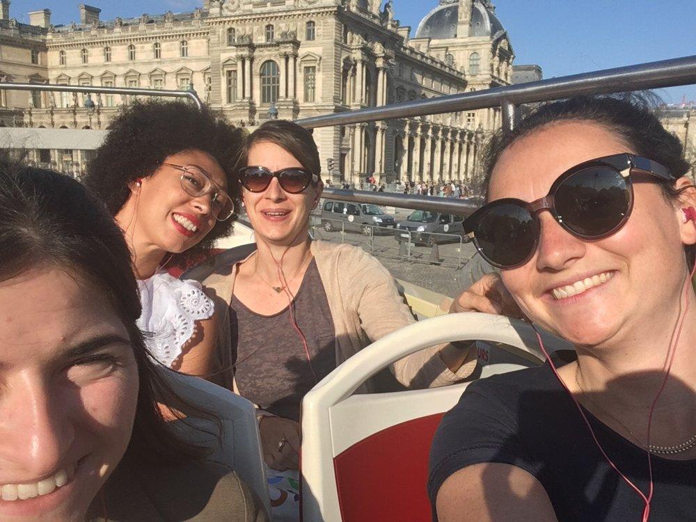 The team product testing in Paris