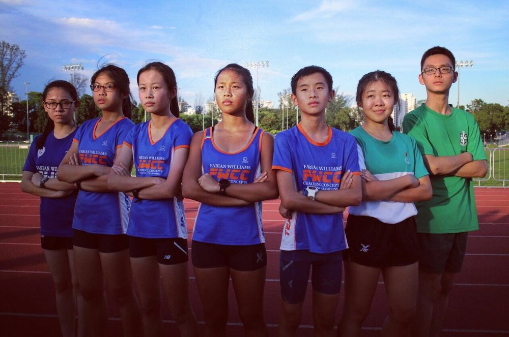The TeamFabian walking squad. From left to right: Shantel, Rachel, Joelle, Dora, Shaun, Zhu Yu, Malcolm.