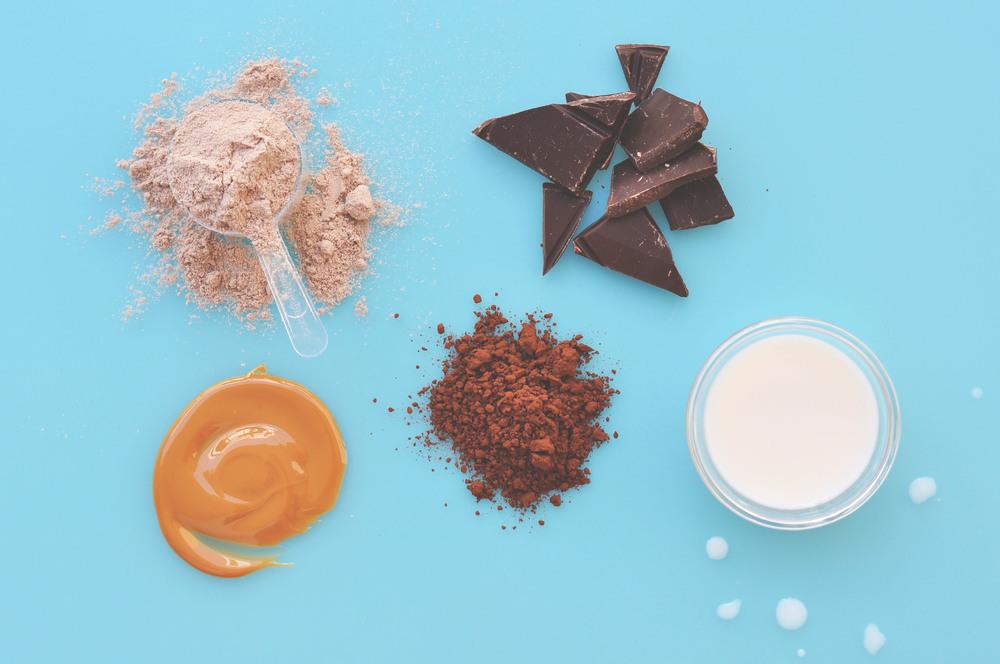 batido de chocolate y mantequilla cacahuete
