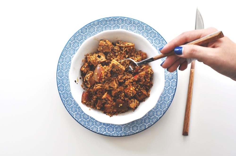 tofu quinoa picante