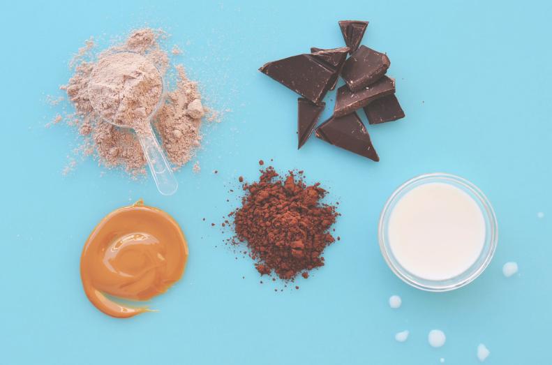 batido de chocolate y mantequilla de cacahuete
