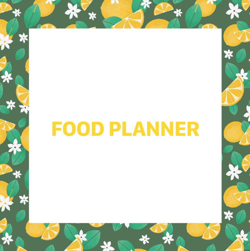 food planner organizador comida
