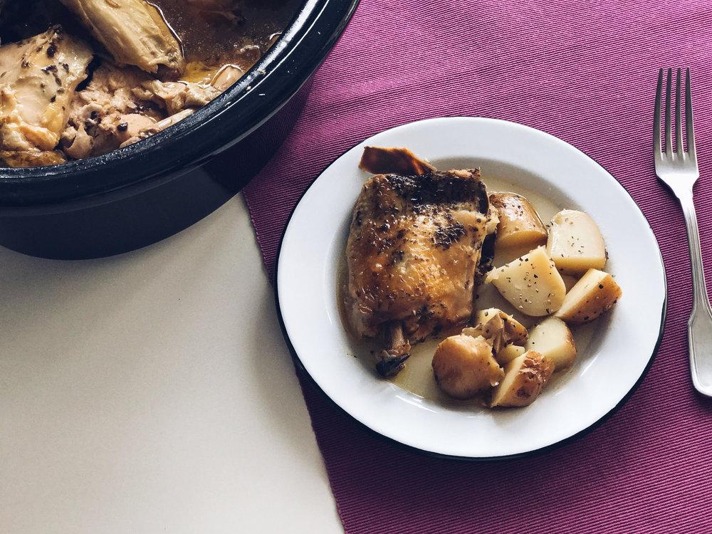 pollo crockpot