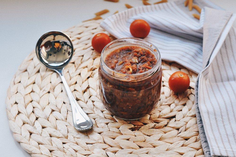 salsa de tomate casera y rápida