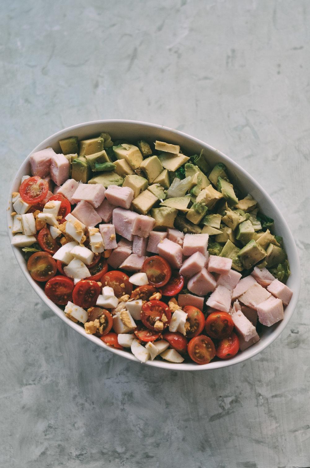 cobb salad pavo ensalada de pavo
