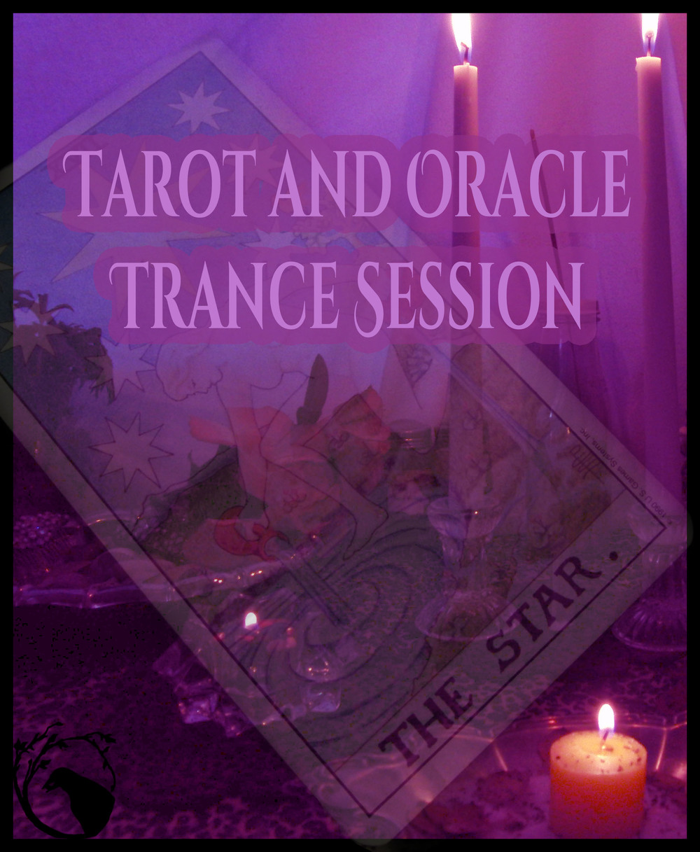 tarot and oracle trance session purple violet black flame fire magic witchcraft spells
