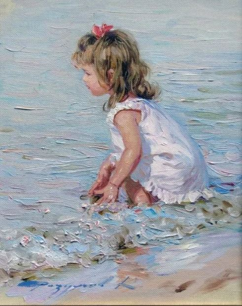 Girl by the Sea - School of R. Bianco - $1800