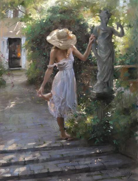 Garden Wanderings - R. Bianco Masterpiece - $2200