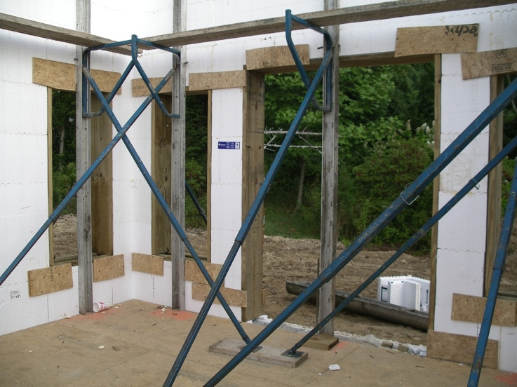 Walls braced, windows and doors blocked, ICFs reinforced