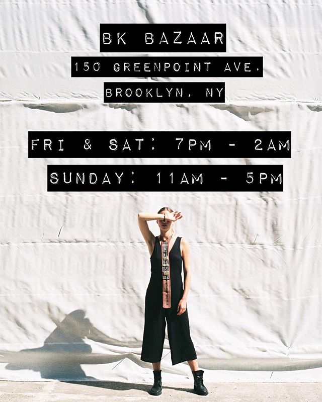 Come check out our vendor booth all weekend long at @bkbazaar! Drinks, live music, mini golf and a couple of travelers with some #handmade goods they have selected while traveling around the world.  #bkbazaar #greenpoint #brooklyn #anomadscloset #handembroidery #kimono #ethnic #love #vintage 📸 @tinygeeroms cutie @ashleygaleyn