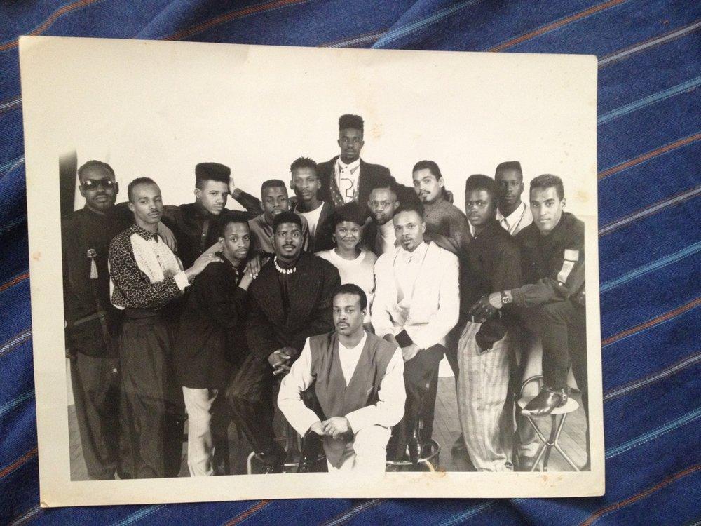 """""""House of UltraOmni Family Photo"""" – circa late 1980s. Print. (Omni circa late 1980s)"""
