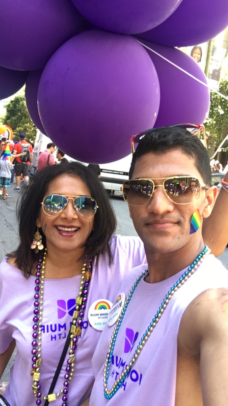 My mom with our family friend at San Francisco Pride!