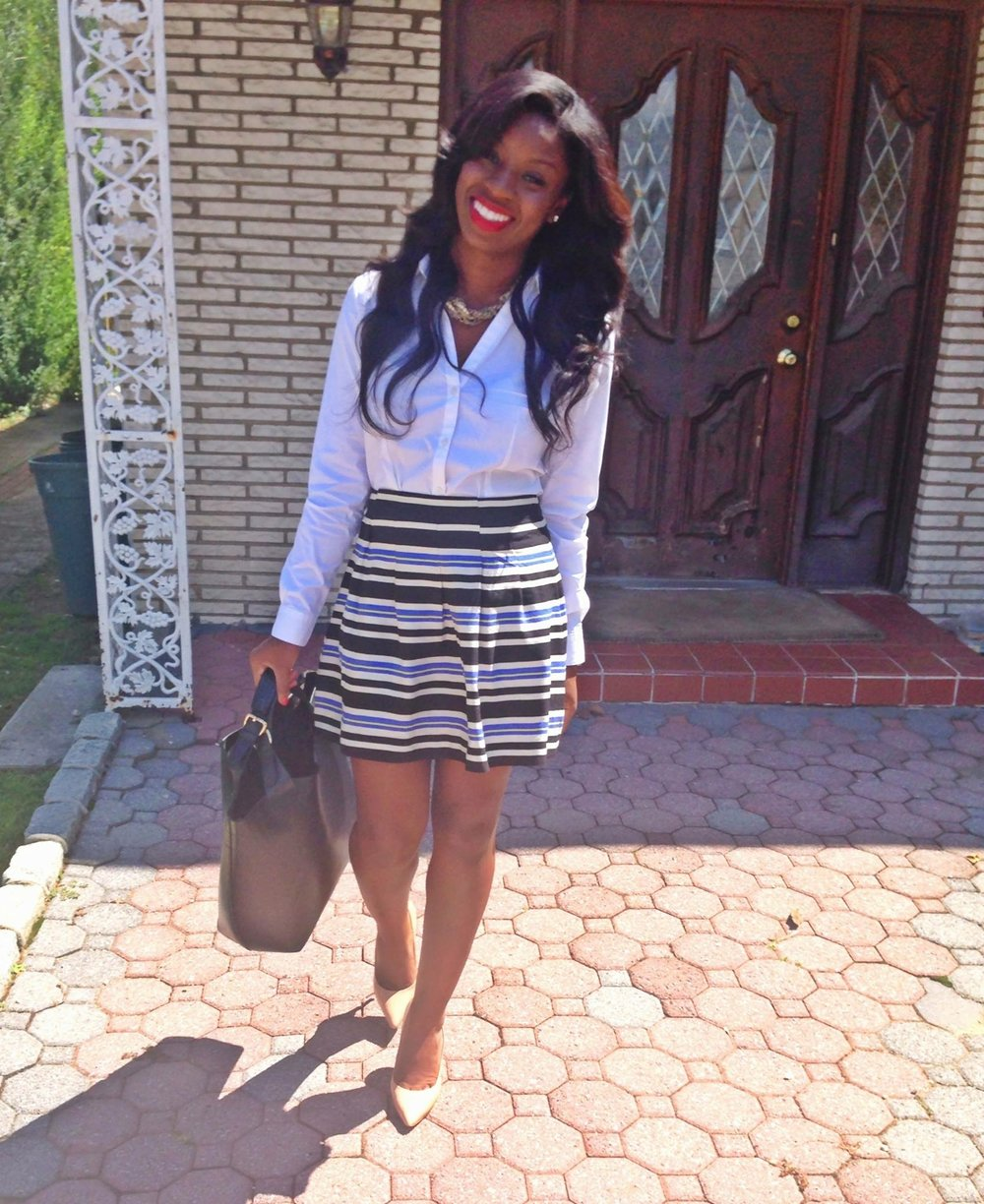 Church and Brunch Date  Top:  H&M , Skirt:  Forever21 , Bag:  Zara