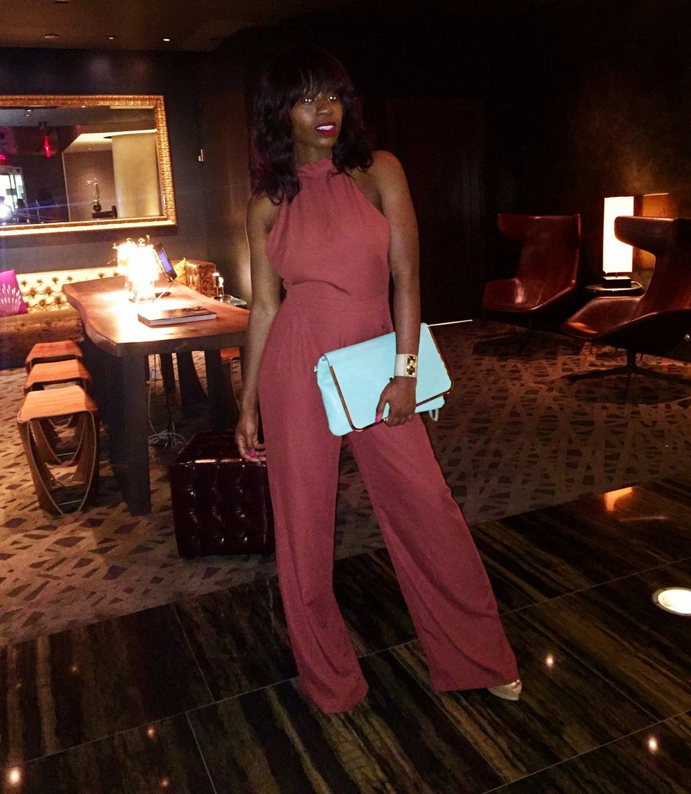 Dinner Date at  PRINT.   Jumpsuit:  Asos