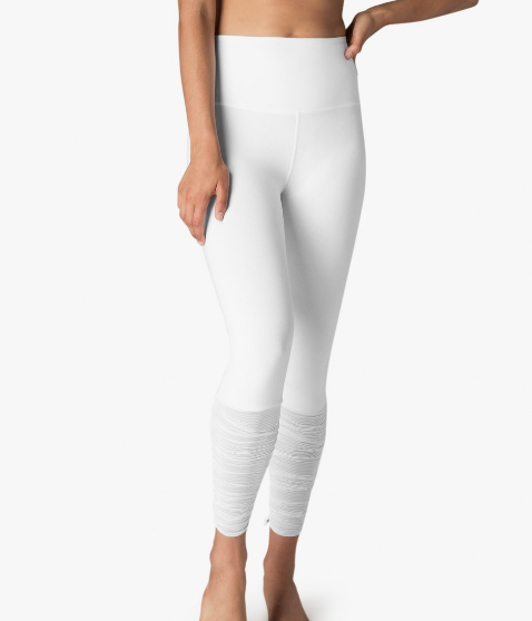 7792e3f59e47ae True Stripes Shirred Adjustable Leggings | White | Beyond Yoga — The Well