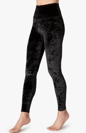 8eb64b3587ba2a Beyond Yoga Black Crushed Velvet Legging High Waisted — The Well