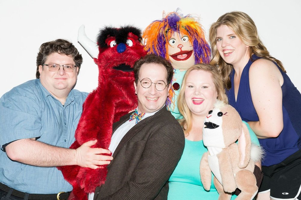 "Cast photo of ""The Weirdos Next Door."""