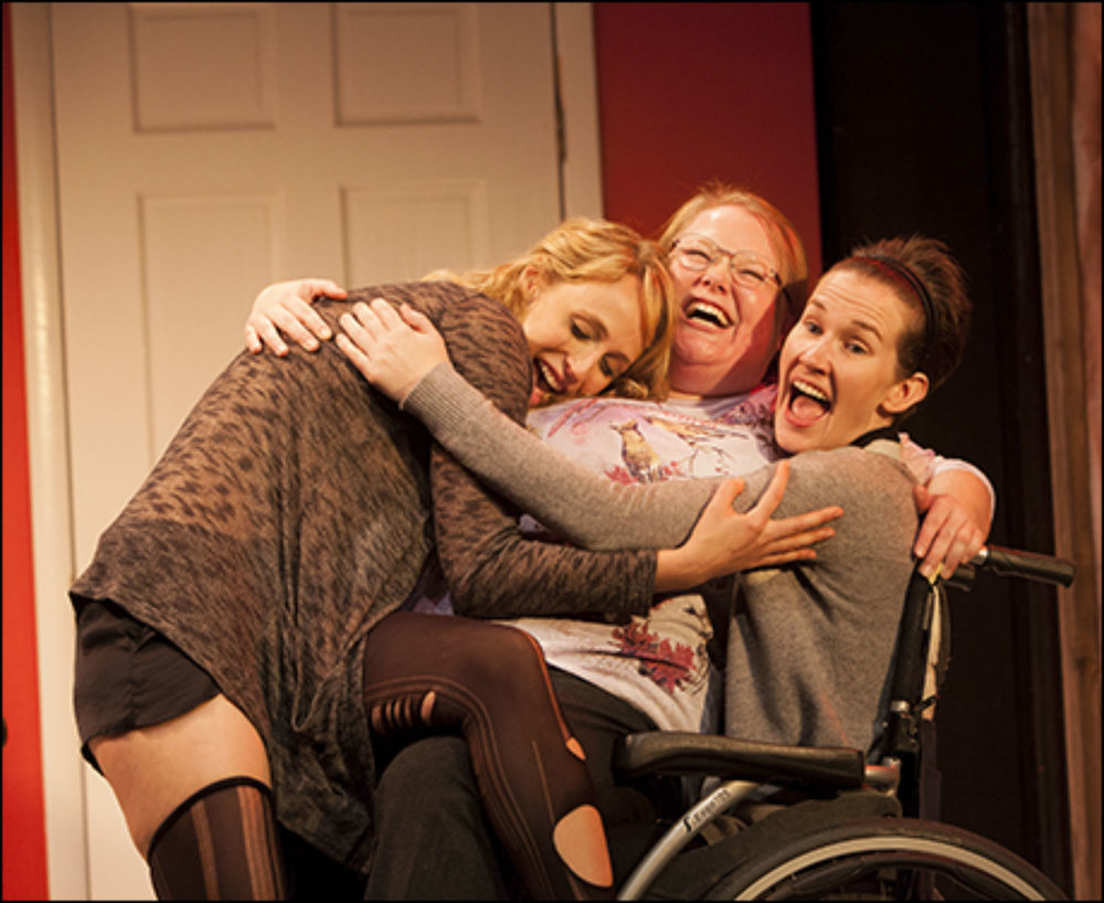 "Jen, Keira Keeley and Katya Campbell in Rattlestick's ""How to Make Friends and then Kill Them."""
