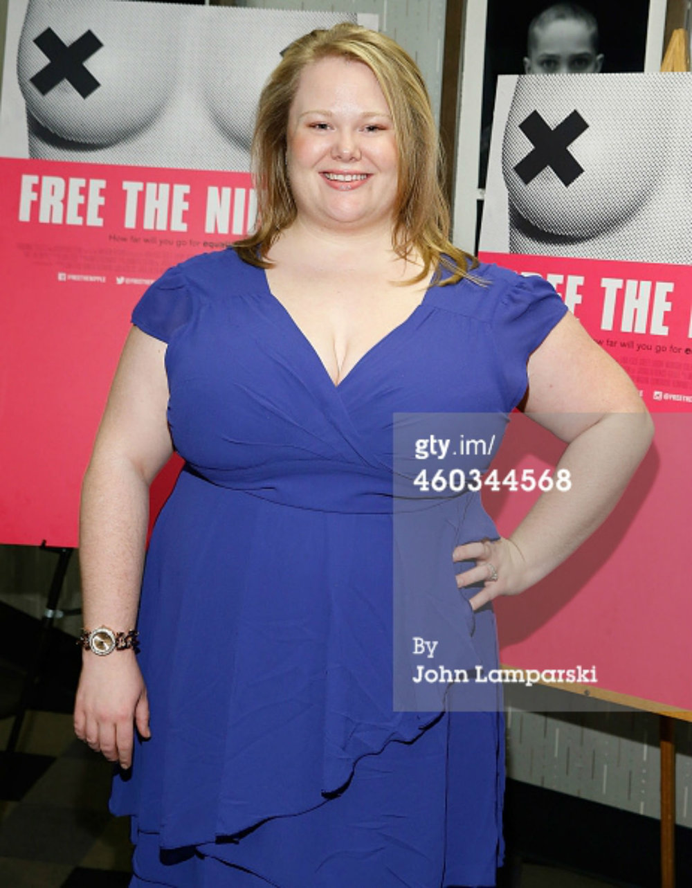 "Jen at the New York premiere of IFC's ""Free the Nipple."""