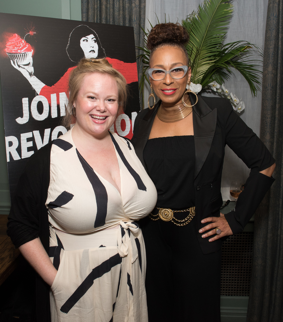 "Jen and AMC ""Dietland"" co-star Tamara Tunie at an advance screening in New York City."