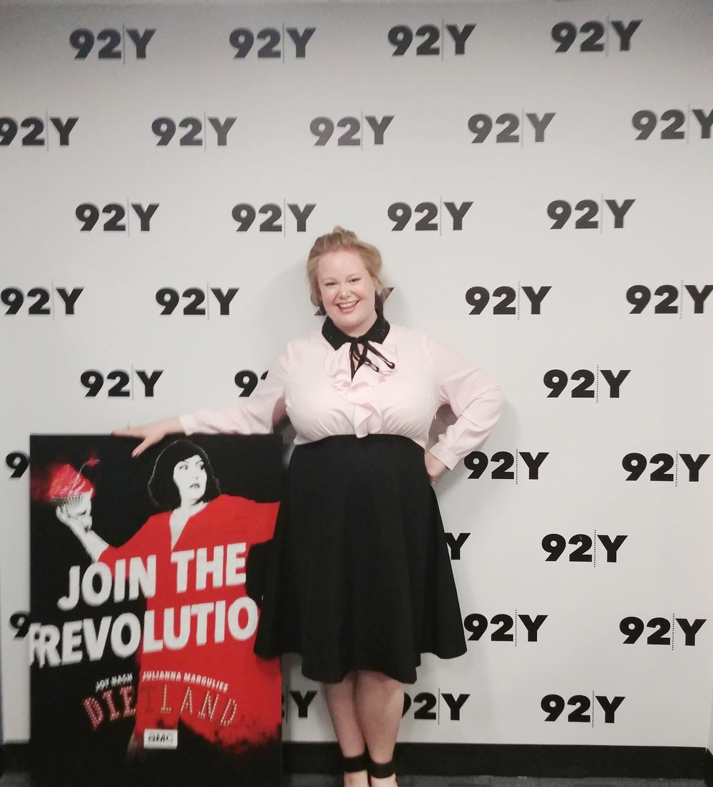 "Jen at an NYC advance screening of AMC's ""Dietland"" at the 92Y."