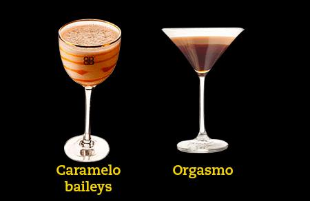 Cocteles beer caramelo baileys y orgasmo