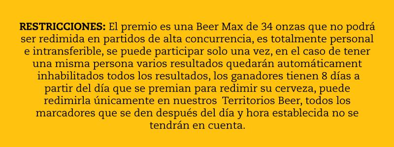 resctriciones beer