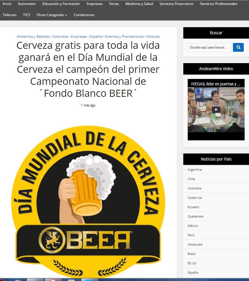 Cerveza gratis para toda la vida Concurso