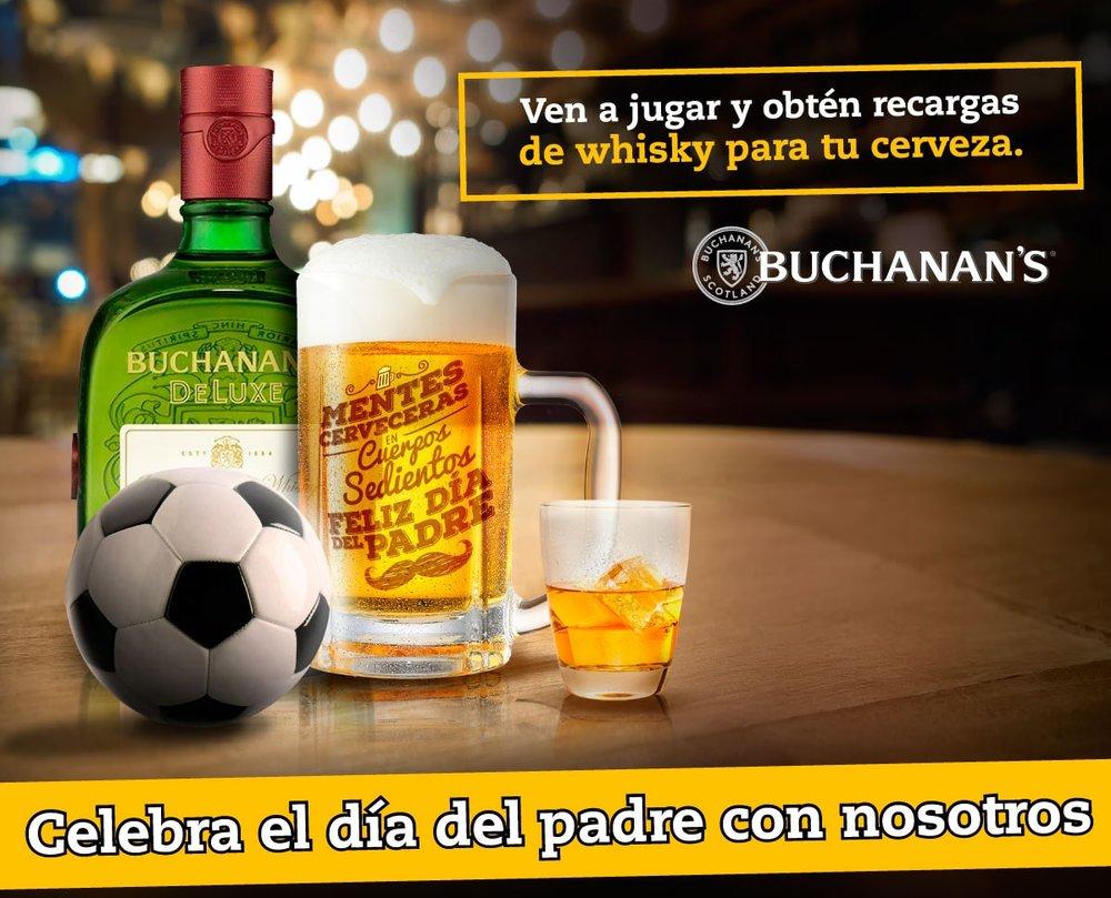celebracion dia del padre con Buchanans en BEER